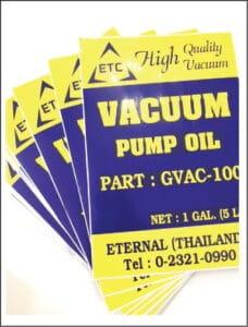 สติกเกอร์เนื้อ PVC